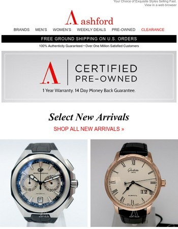 Certified Pre-Owned New Arrivals. Shop Now!