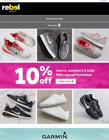 10% off Nike casual footwear!