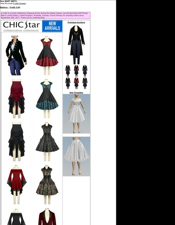 Chic Star Victorian Coat Auction