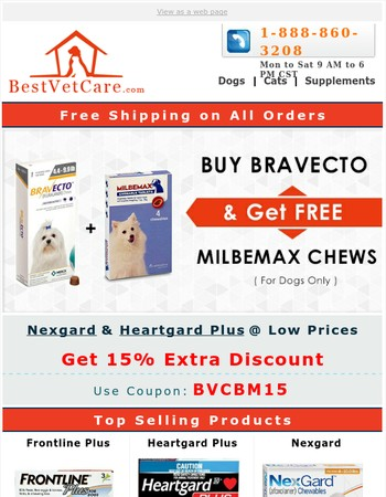 Buy Flea, Tick Treatment & Allwormer Free + 15% Extra Discount & Free Shipping