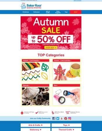 Autumn Sale - Don't Miss Out