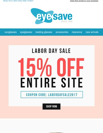 Labor Day Sale Is Happening Now! 15% Off The Entire Site!