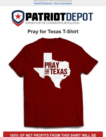 NEW: Pray for Texas T-Shirt