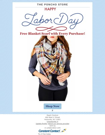 Free Blanket Scarf To All Those Who Work Hard - LIMITED TIME ONLY