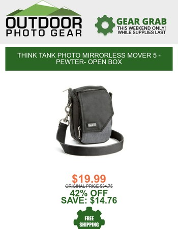 This weekend's Gear Grab: Think Tank Mirrorless Mover
