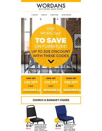 Furniture sale Extended!