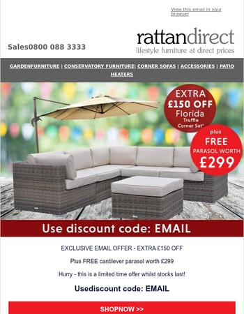Exclusive Email Offer