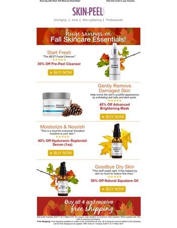 Fall Skincare Routine & Savings Up to 50%