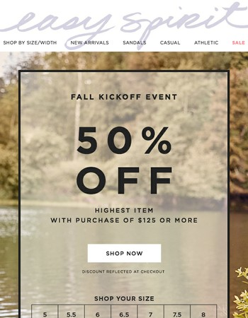 Fall Kickoff Event: 50% off | Shop all shoes