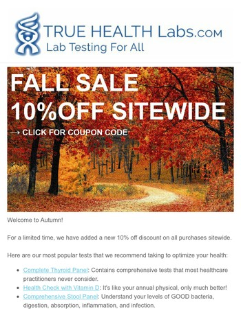 Get 10% Off Sitewide with Fall Savings