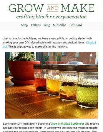 DIY Holiday Ideas: Mustard, Chai & Infused Spirits