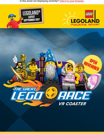 Hi Mary, The World's First LEGO® Virtual Reality Roller-Coaster is coming this November!