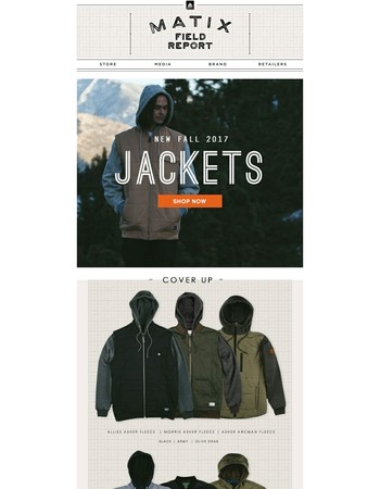 All New Fall Jackets from Matix - Shop Now!