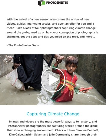 Newsletter: Video - Capturing climate change, apps for the road, and your marketing survival guide.