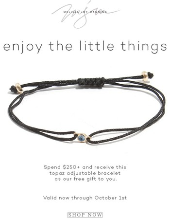 Free Bracelet with Purchase of $250+