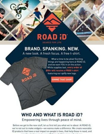 The NEW ROAD iD is here! FREE t-shirts to celebrate!