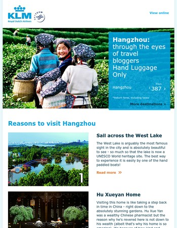 Travel bloggers share top reasons to visit Hangzhou