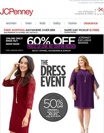 The Dress Event is here! 50% off select styles
