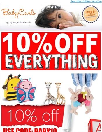 Babycurls Sale 10% OFF! EVERYTHING!!