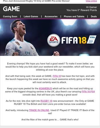 This week at GAME: FIFA 18 has landed!
