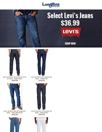 Levi's Jeans on Sale: Just $36.99, Limited Time Only