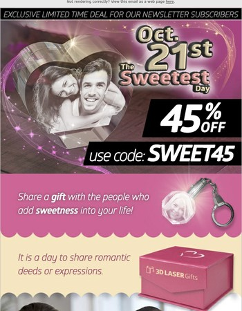 The Sweetest Day is here!
