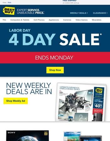 {DEALS ALERT} 4-Day Sale ENDS SOON + NEW DEALS just arrived