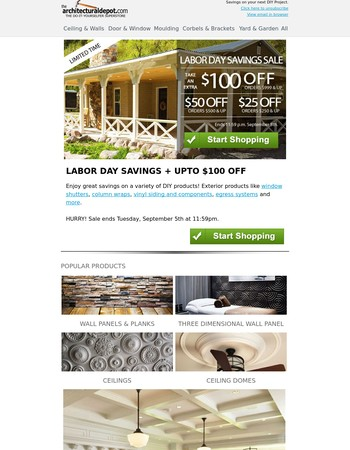 architecturaldepot coupons: 75% off promo code 2017