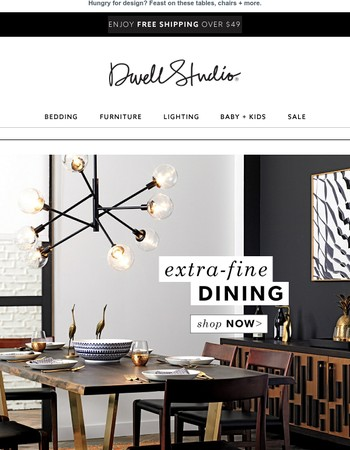 Now serving --> dining room designs