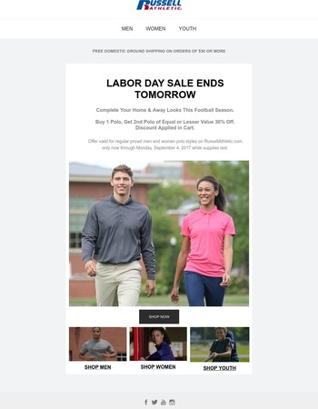 Labor Day Sale Ends Tomorrow. Last Chance to Save.