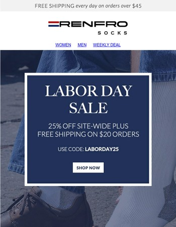 Final Hours - Site-Wide Labor Day Sale!