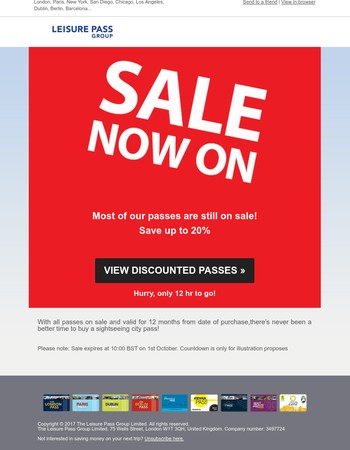 SALE ENDS IN 12 HOURS ⏰ Find Your Discounted City Pass