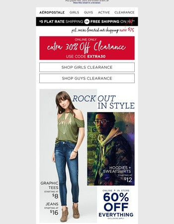 Limited Time! Extra 30% off Clearance – Online Only