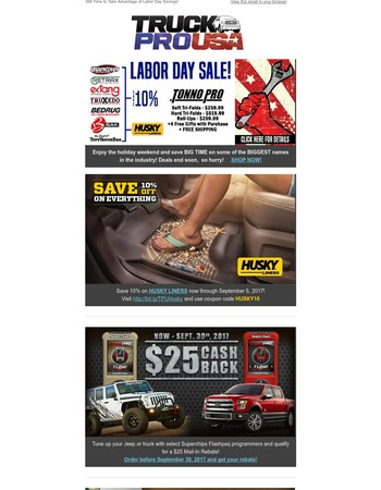 Still Time to Take Advantage of Labor Day Savings!