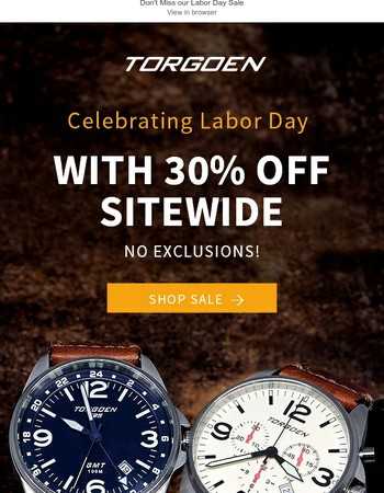 Last Day: 30% OFF Sitewide