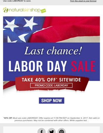 40% Off Ends Today