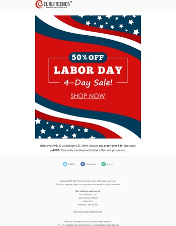 Your Labor Day Weekend Savings End Soon!