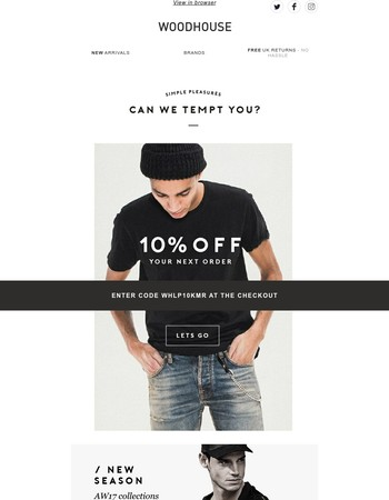 It's been too long! Here's 10% off...
