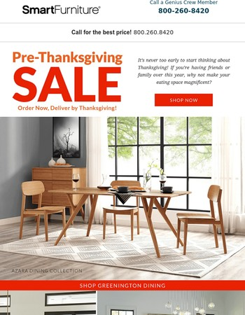 Save Up To 15% On Smart Furnitureu0027s Best Dining Brands!