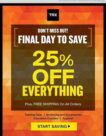 FINAL HOURS to Save 25% on Labor Day Deals!!!