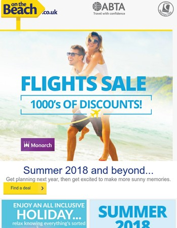 Book early and save on new flights...