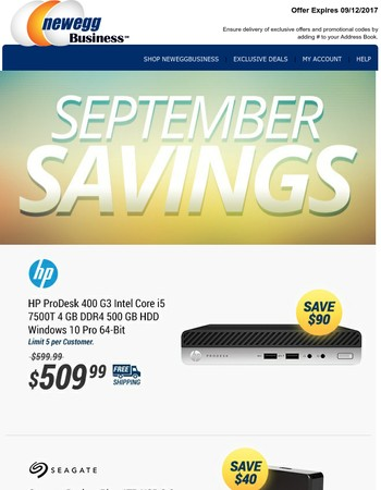 Save for September - 4TB External HD $109.99