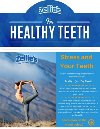 Is stress damaging your teeth? Plus - last day to SAVE on bulk bags!