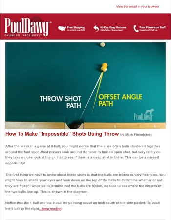 """How to Make """"Impossible"""" Shots Using Throw"""