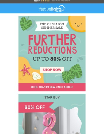 Even MORE Reductions in our End of Summer Sale!