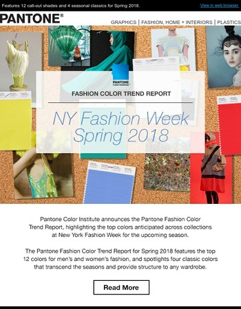 Announcing the PANTONE Fashion Color Trend Report: NY Fashion Week Spring 2018