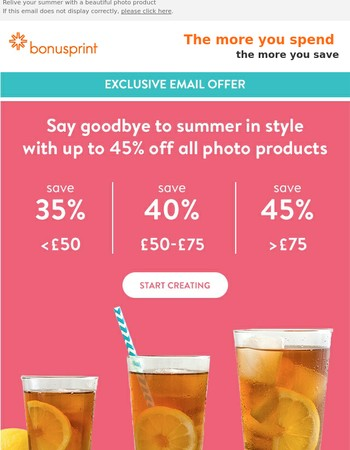 Exclusive offer: up to 45% off
