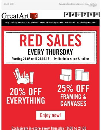 Red Sales: 20% OFF everything