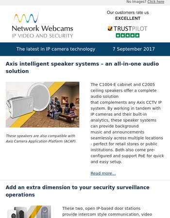Axis intelligent speaker systems, Axis door stations, new Samsung Wisenet professional monitors and new Axis P12 units