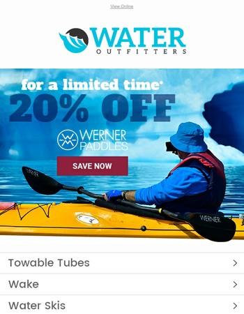 Limited Time Offer   20% OFF Werner Paddles